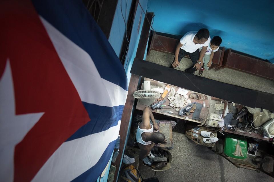 A shoemaker in Havana, Cuba