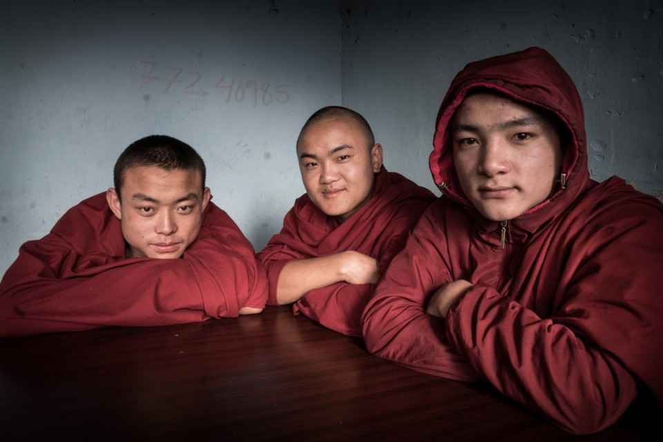 Young Monks Bhutan