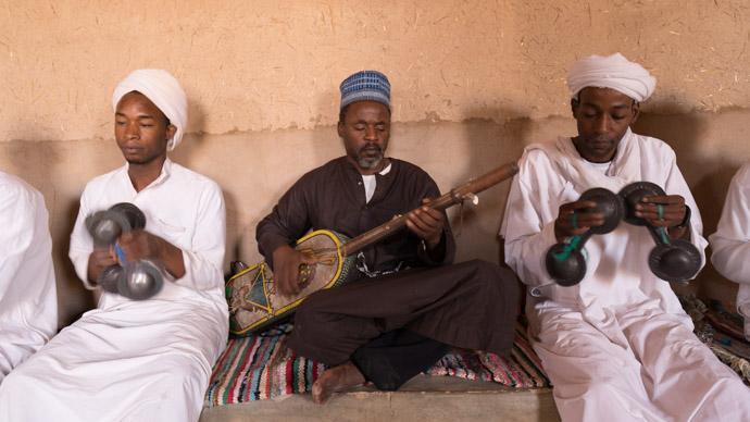 Listening music Morocco