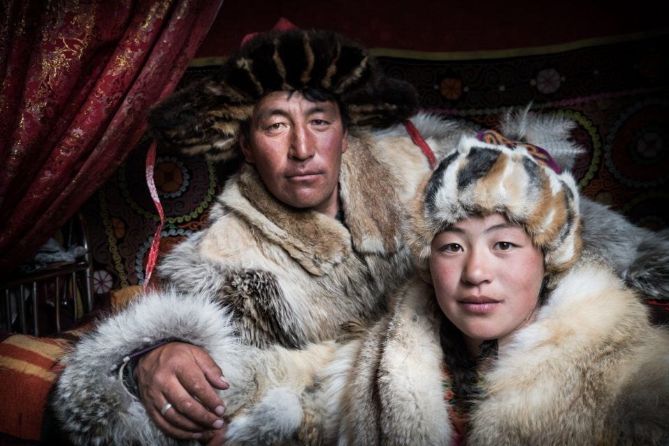 Mongolia father and daughter